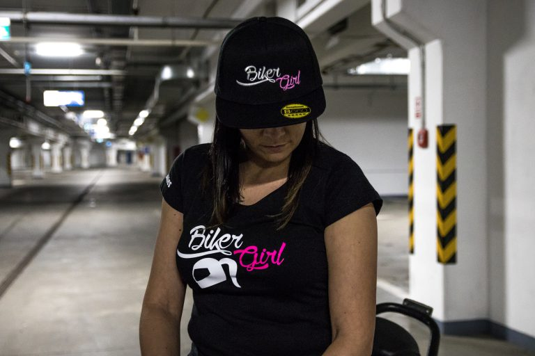 biker girl tricko a siltovka